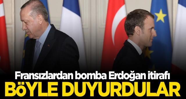 Türkiye ve Cumhurbaşkanı Erdoğan hakkında sürekli atıp tutan Fransızlar Çark etti sonunda