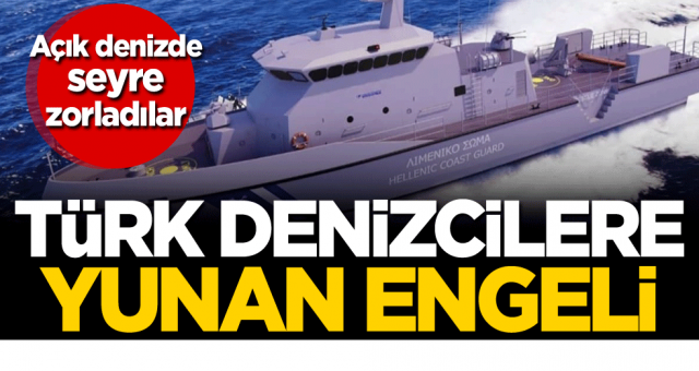 Türk denizcileri köşeye sıkıştıran Yunan sahil güvenlik güçleri Türk Sahil kuvvetlerini görünce kaçtılar