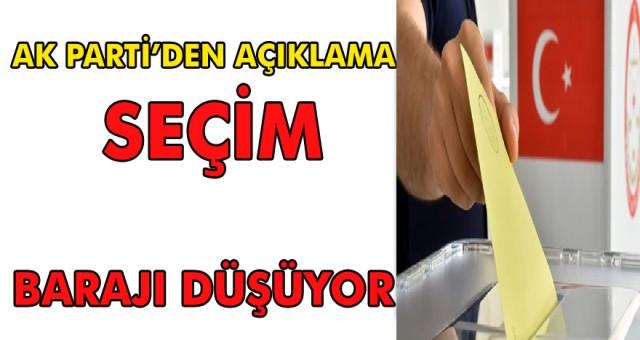 Seçim barajı düşüyor! AK Parti Gurup Başkan vekili Bülent Turan önemli açıklamalar yaptı