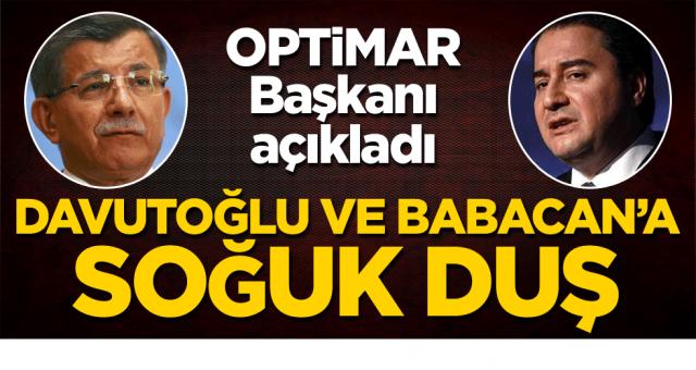 Son Kamuoyu araştırmaları ve Anket sonuçlarında Davutoğlu ve Babacan'a büyük şok