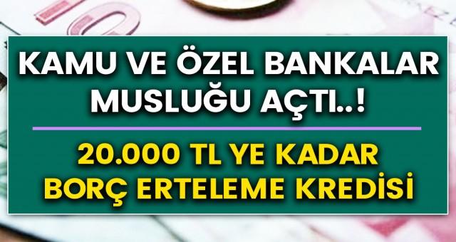 Ziraat bankası, Vakıfbank ve Halkbank kanadından müjdeli haber: Bankamatik kartı olanlar için tam 20 bin TL kredi fırsatı! Kredi başvuruları için belirlenen son gün…