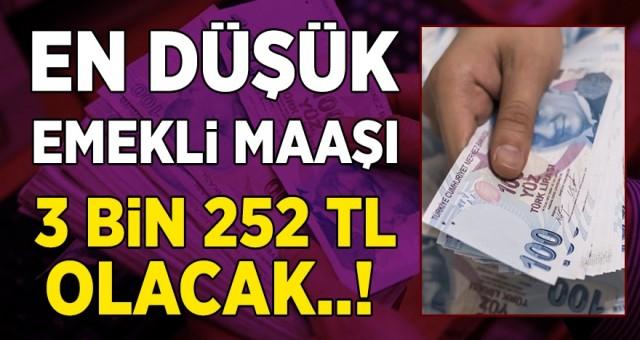SGK Bağ-Kur Emekli Maaşları Belli, Oldu! En Düşük Emekli Maaşı 3 Bin 252 TL Olacak...