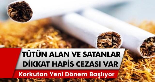 Tütün alan ve satan herkes için dikkat edilecek dönem: Yeni dönem için çok az kaldı…