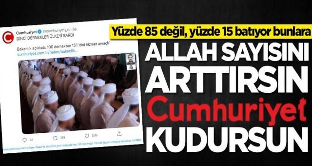 Cumhuriyet Gazetesinde akilalmaz din düşmanlığı sur manşetten verdiler