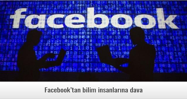 Facebook'tan bilim insanlarına dava