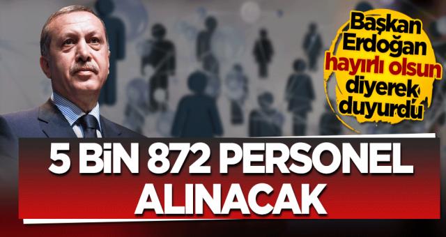 Cumhur Başkanı Recep Tayyip Erdoğan açıkladı: Milli eğitim Bakanlığı bünyesinde personel alinacak