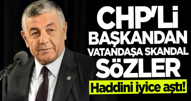 CHP'li Başkandan vatandaşa çoban benzetmesi