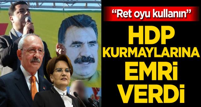 Talimatı Türk milletinden değil kandilden alan zillet ittifaki tezkere için ret oyu kullanacak