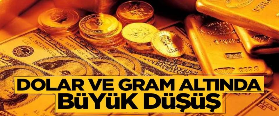 Dolar ve gram altında büyük düşüş