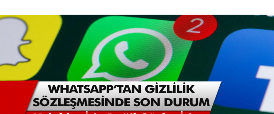 Whatsapp'tan yeni bir açıklama! Kulaklar için değil gözler için özellik güncellemesi…