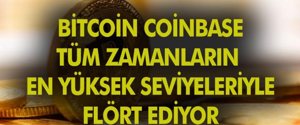 Bitcoin, Coinbase listesinin önünde tüm zamanların en yüksek seviyesi ile flört ediyor