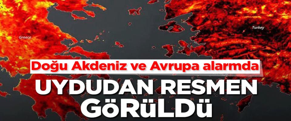 Ak Deniz kıyılarını etkisi altına alan yangınların yol açtığı felaket uydudan görüntülendi