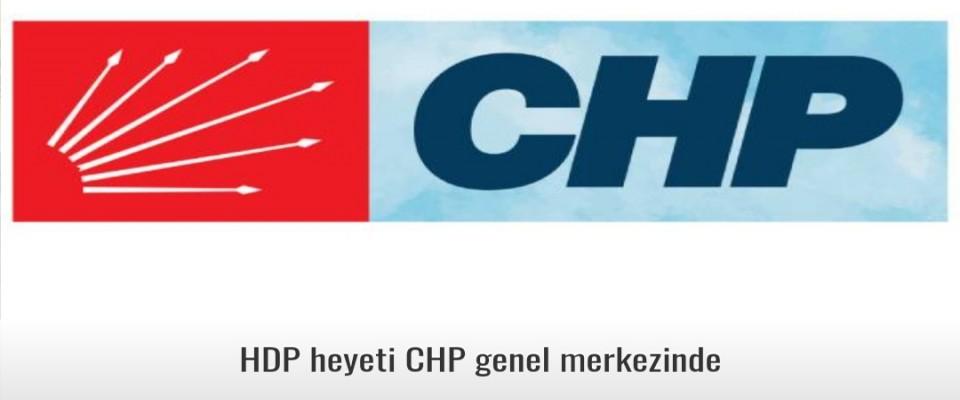 CHP ve Hdp''nin ortaklığı resmiyete döküldü HDP heyeti CHP genel merkezinde