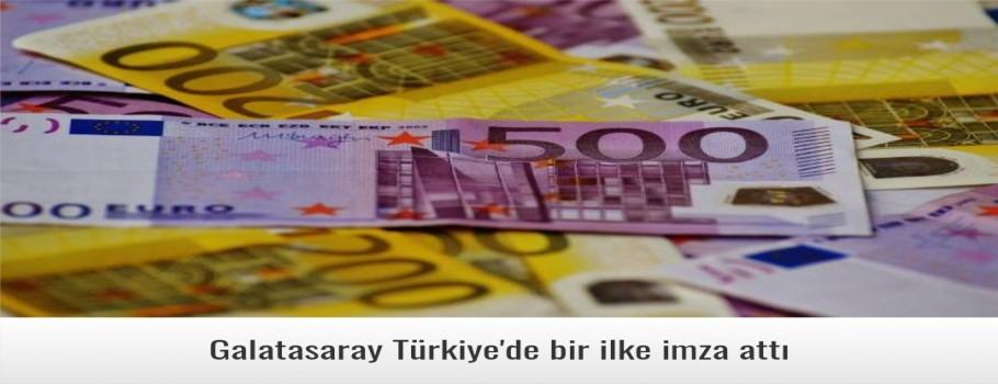 Galatasaray Türkiye'de bir ilke imza attı