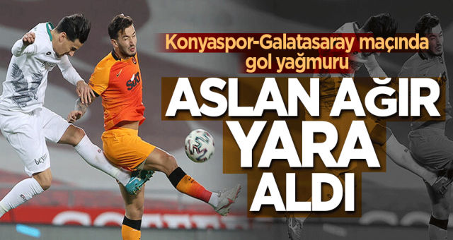 Konyaspor-Galatasaray maçında gol yağmuru