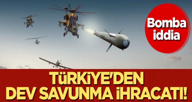Bomba iddia: Türkiye'den dev savunma ihracatı!