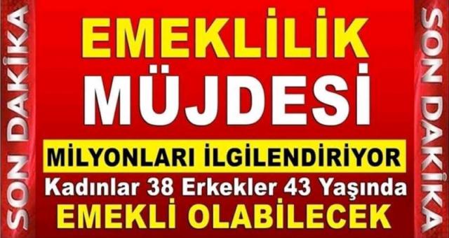 Müjde 3600 Günden SGK'dan 43 Yaşında Emekli Olabilirsiniz!